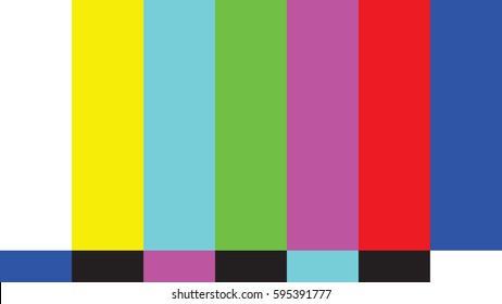 A color bar test that is widely used in the broadcasting world in vector format.