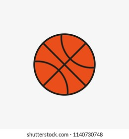 color basketball ball icon