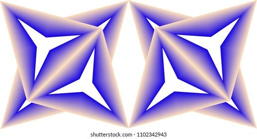 Color Blend Geometric Pattern