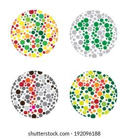 color blind Test, daltonism,color blindness disease, perception test,
