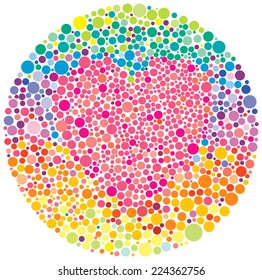 color blind test with a heart