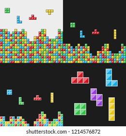Color blocks set. Video game. Vector illustration