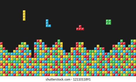 Color blocks. Video game. Vector illustration