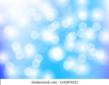 color blue abstract blurred light bokeh background ,pattern
