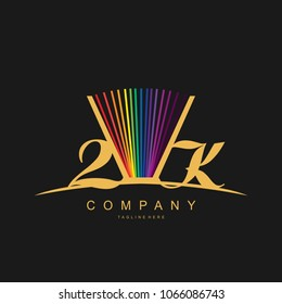 Color Book 2k Vector Logo