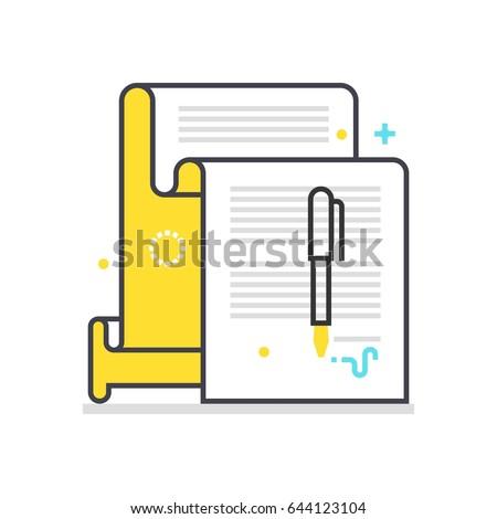 color box icon contract illustration icon のベクター画像素材