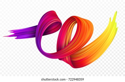Color brushstroke oil or acrylic paint design element for presentations, flyers, leaflets, postcards and posters. Vector illustration EPS10