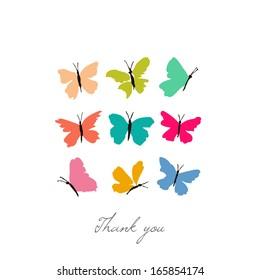 Color butterflies. Vector illustration