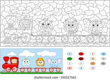 color by number educational game 260nw