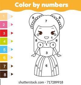 color by numbers educational children 260nw