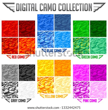 9ffb70f58b6d2c Color Camo Seamless Vector Camouflage Collection Stock Vector ...