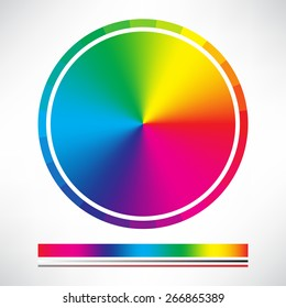 Color chart circle vector