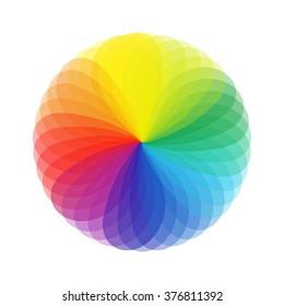 Color chart circle vector. Colorwheel