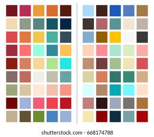 color chart, scheme