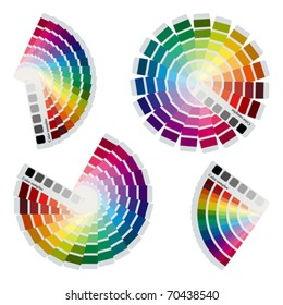 Color charts icons set. Illustration vector.