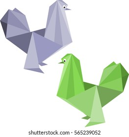 Color chickens of origami