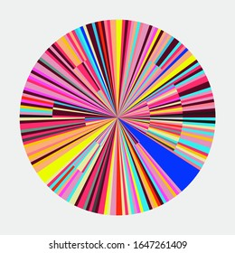 Color Circle Burst Abstract Geometric Graph