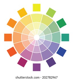 Color circle diagram