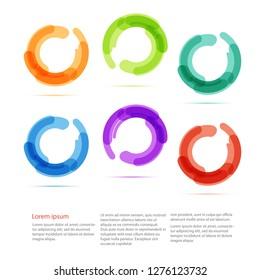 Color circles set - Vector