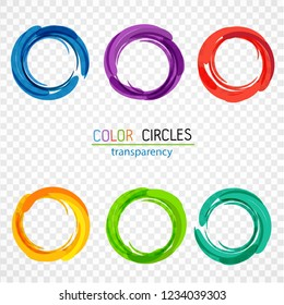 Color circles. transparency