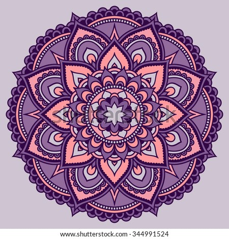 Color Circular Pattern Form Mandala Decorative Stock Vector Royalty - Mandalas-en-color