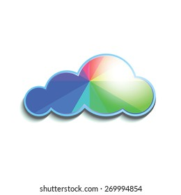 Color cloud background for your business. Vector illustration.