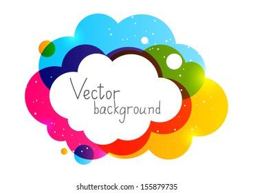 Color cloud element for Your design