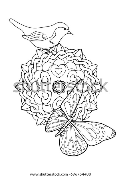 Color Coloring Page Adults Kids Butterfly Animals Wildlife