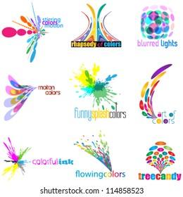 color concept logo set (icon set)