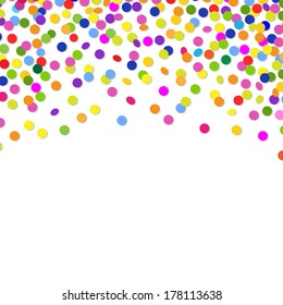 Color Confetti Frame, With Gradient Mesh, Vector Illustration