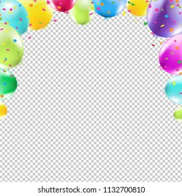 Color Congrats Card With Gradient Mesh, Vector Illustration