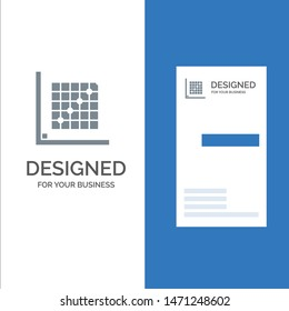 Color, Correction, Edit, Form, Grid Grey Logo Design and Business Card Template. Vector Icon Template background