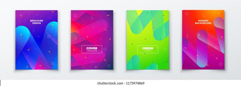 Color cover background design. Fluid gradient shapes composition. Futuristic design posters. Eps10 vector.