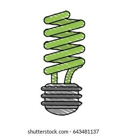 color crayon stripe cartoon fluorescent light bulb