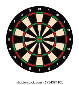 color darts board target. Equipment for sports competitions. Vector