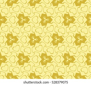 Color design geometric pattern. Seamless vector illustration yellow color.