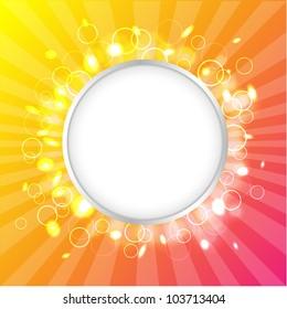 Color Design Template, Summer Poster, Vector Illustration
