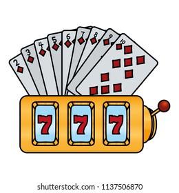color diamonds cards and casino slot machine