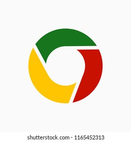 Color disc icon. Web icon. Vector illustration. EPS 10