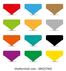 color empty tags set - vector