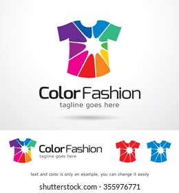 Color Fashion Logo Template Design Vector