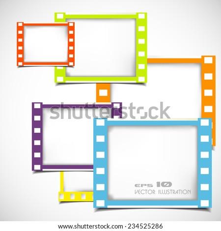 Color Films Frame Stock Vector (Royalty Free) 234525286 - Shutterstock