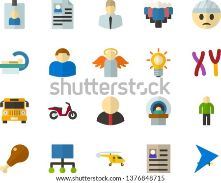 Color Flat Icon Set Angel Flat Stock Vector (Royalty Free
