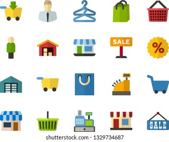 grocery store employee Stock Illustrations, Images & Vectors