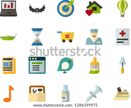 Color Flat Icon Set Birds Flat Stock Vector (Royalty Free