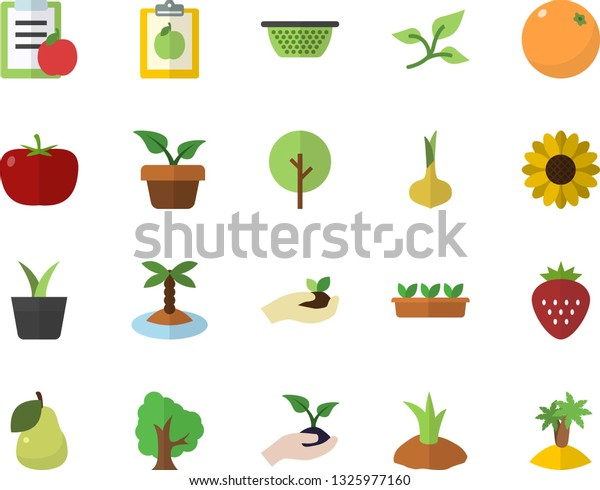 Color Flat Icon Set Colander Flat Stock Vector (Royalty Free ... on tree home furniture, tree patio, tree home design, tree interior, tree home water, tree bathroom,
