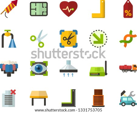 Color Flat Icon Set Crackers Flat Stock Vector (Royalty Free