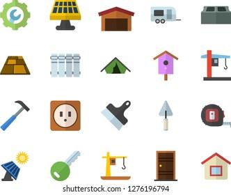 Color flat icon set trowel flat vector tape measure Entrance door sockets  sc 1 st  Shutterstock & solar warehouse Images Stock Photos \u0026 Vectors | Shutterstock