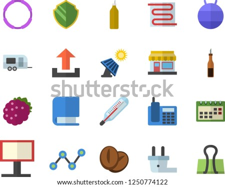 Color Flat Icon Set Warm Floor Stock Vector Royalty Free