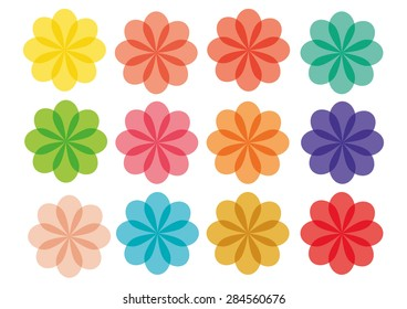 Color Flowers Vector